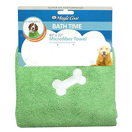 Four Paws Magic Coat Microfiber Dog Towel, Large/X-Large, Green