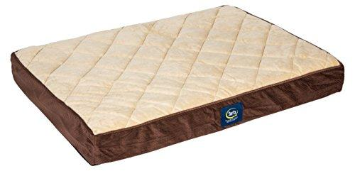 Serta Ortho Quilted Pillowtop Pet Bed, Large, Mocha