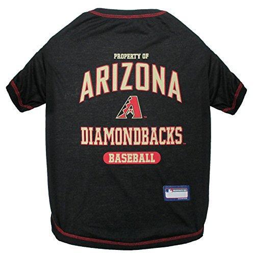 Pets First MLB Arizona Diamondbacks Dog Tee Shirt, Medium