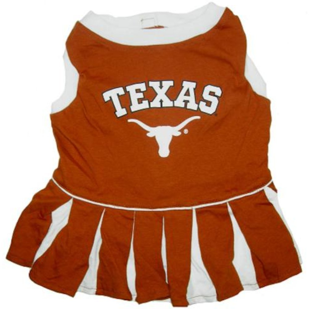 Pets First NCAA University of Texas Longhorns Cheerleader Dog Outfit