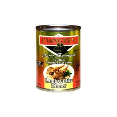 Evanger\'s Super Premium For Dogs Lamb and Rice Dinner, 12-Pack