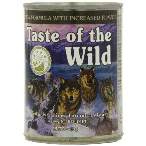 Taste of the Wild Wetlands Grain-Free Canned Dog Food (Pack of 12 - 13.2 oz each can)