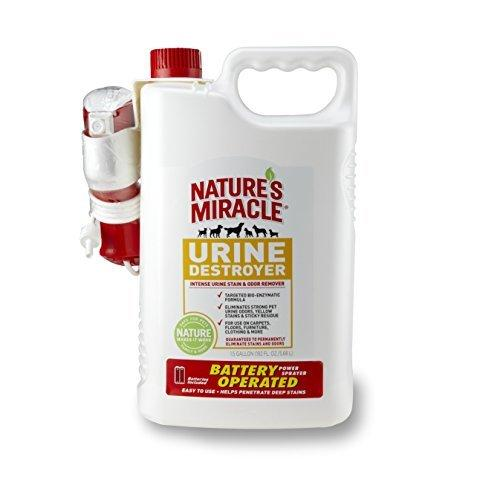 Nature\'s Miracle Stain & Odor Remover, Urine Destroyer, Power Sprayer w/ Batteries, 1.5 Gallon (P-5788)