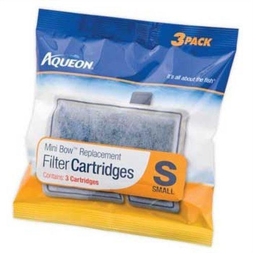 Aqueon 06076 Filter Cartridge, Small, 3-Pack