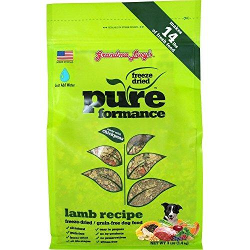 GRANDMA LUCY\'S 844213 Pureformance Grain Free Lamb Food for Dogs, 3-Pound