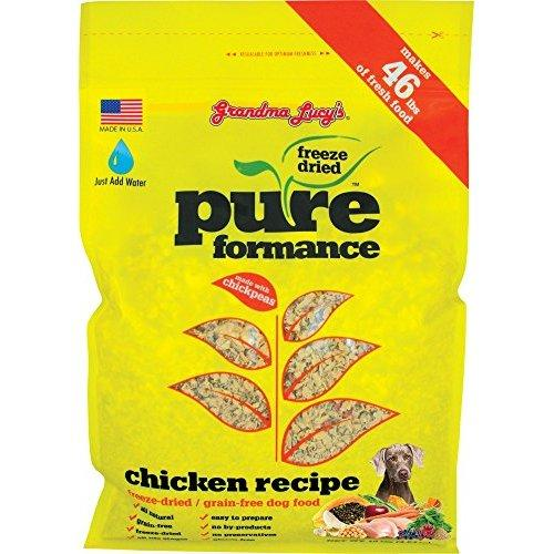 GRANDMA LUCY\'S 844212 Pureformance Grain Free Chicken Food for Dogs, 10-Pound