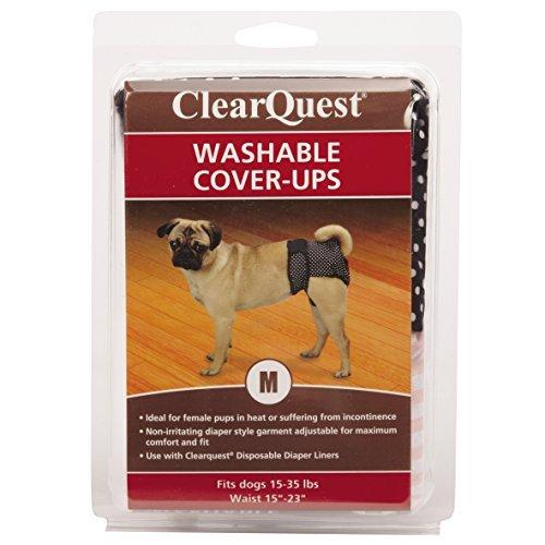 ClearQuest Wetness and Stain Protecting Dog Cover-Ups Dog Diapers, 2-Pack