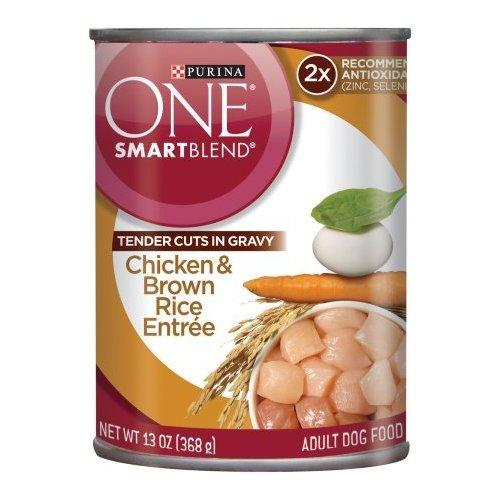 Purina One Smart Blend Tender Cuts - Chicken & Brown Rice Entree 13oz (Pack of 2)