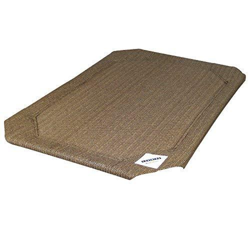 Coolaroo Replacement Pet Bed Cover, Cooling, Washable, Indoor Or Outdoor Dog Bed Or Cat Bed, Large (L) (Lg), Nutmeg