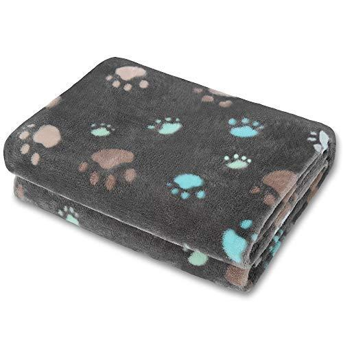 Allisandro Super Soft And Fluffy Dog Cat Puppy Blanket,Total 4 Sizes For Small Medium Large Pet, Grey[100% Flannel Fleece]