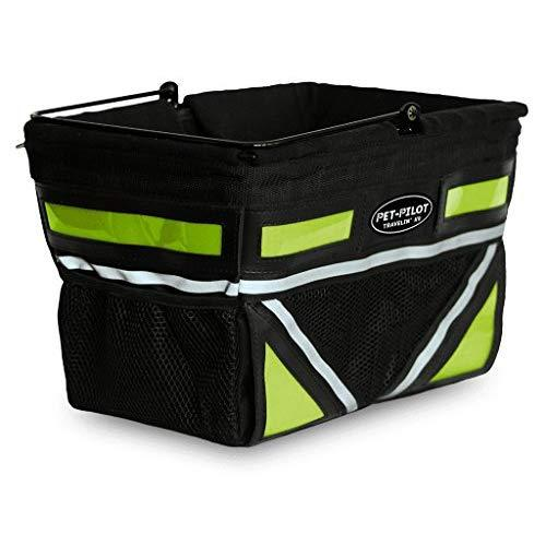 Travelin K9 2018 Pet-Pilot Dog Bike Basket Carrier | 7 Color Options For Your Bicycle (Neon Green)