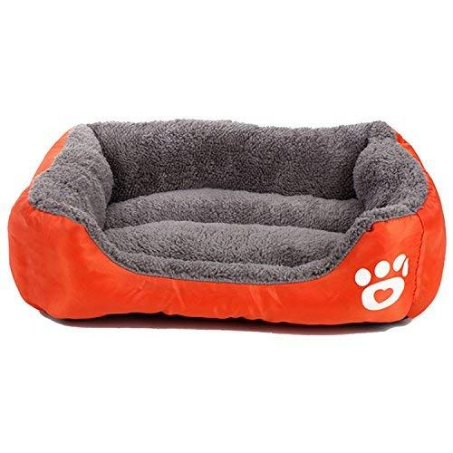 Pet Deluxe Pet Lounger Ped Bed Premium Bedding With Super Soft Padding And Anti-Skid Bottom For Dogs $ Cats [Lightweight, Self-Warming](L)-Orange