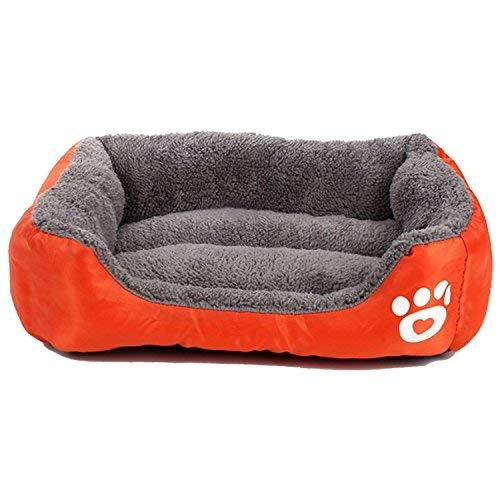 Pet Deluxe Pet Lounger Pet Bed Premium Bedding With Super Soft Padding And Anti-Skid Bottom For Dogs $ Cats [Lightweight, Self-Warming](L)-Orange