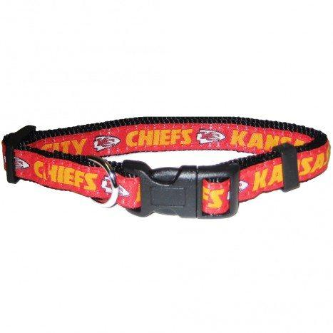 Kansas City Chiefs Dog Collar - Ribbon_Large