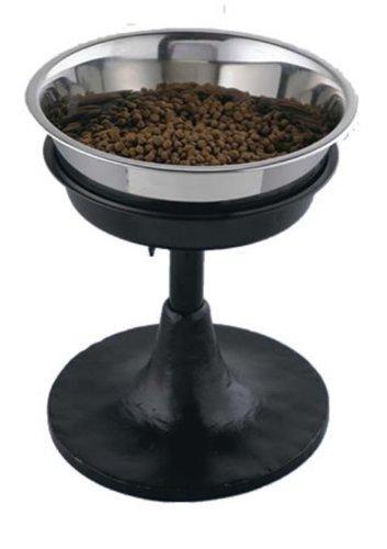 Qt Dog Adjustable Barstool Diner, Black, 3 Quart