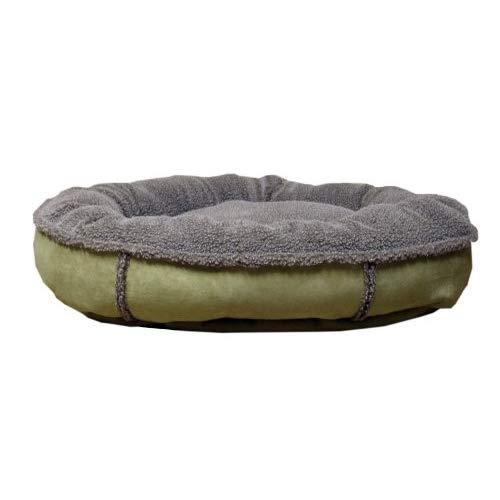Cpc Faux Suede & Tipped Berber 36-Inch Round Comfy Cup, Sage