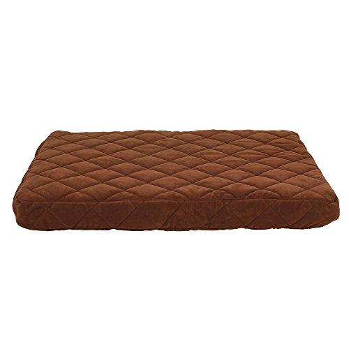 Carolina Pet Jamison Protector Pad Quilted Oops Bed For Pets, Large, Chocolate
