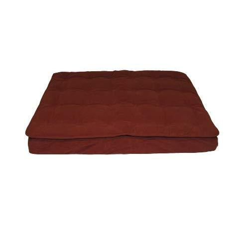 Cpc Luxury Pillow Large Top Mattress Pet Bed, Earth Red