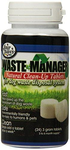 Four Paws Waste Manager Natural Clean Up Dog Tablets, 24 Count