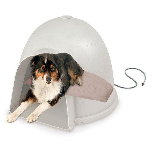 K&H Pet Products Lectro-Soft Igloo Style Dog Bed, Medium, 14.5-Inch x 24-Inch, 40-Watts