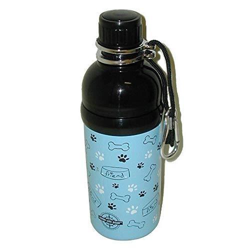 Good Life Gear Stainless Steel Pet Water Bottle, 16-Ounce, Blue Friends Design
