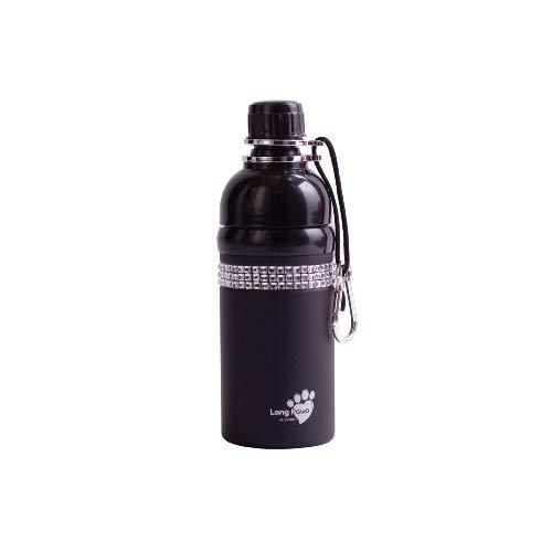 Good Life Gear Stainless Steel Pet Water Bottle, 16-Ounce, Black With Bling Design
