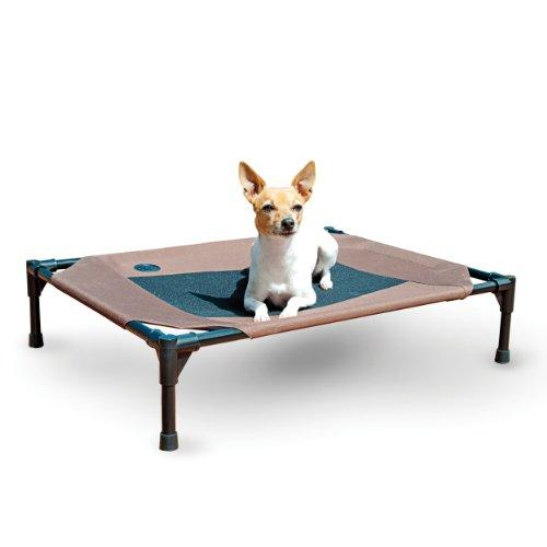 K&H Pet Products Original Pet Cot Elevated Pet Bed Chocolate/Mesh Medium 25 X 32 Inches
