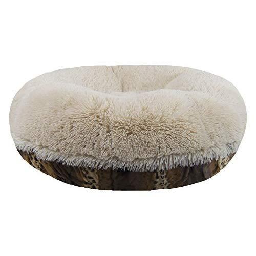 Bessie And Barnie Signature Wild Kingdom / Blondie Luxury Shag Extra Plush Faux Fur Bagel Pet / Dog Bed (Multiple Sizes)