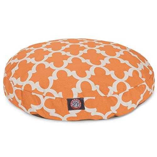 Peach Trellis Large Round Indoor Outdoor Pet Dog Bed With Removable Washable Cover By Majestic Pet Products
