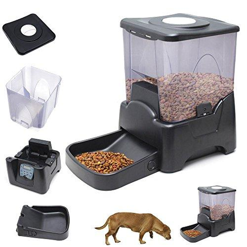 Large Automatic Dog Cat Pet Feeder Programmable Portion Control W/ Lcd Display