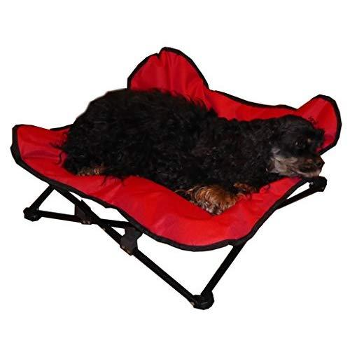 Hdp Elevated Padded Napper Cot Space Saver Pet Bed Color:Red Size:Medium