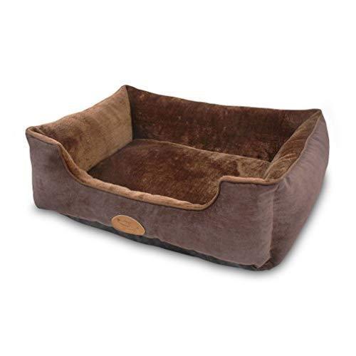 Best Pet Supplies Plush Modern Pet Bed - Dark Auburn, Xl (24 X 17 X 7 Inches)
