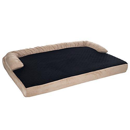 Petmaker Orthopedic Memory Foam Pet Bed With Bolster, X-Large