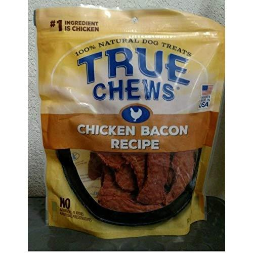 Natural Bacon Chicken Dog Chews Two Pack - 12 Ounce Bags Made In Usa