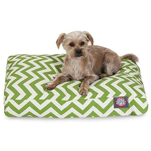 Sage Chevron Small Rectangle Indoor Outdoor Pet Dog Bed With Removable Washable Cover By Majestic Pet Products