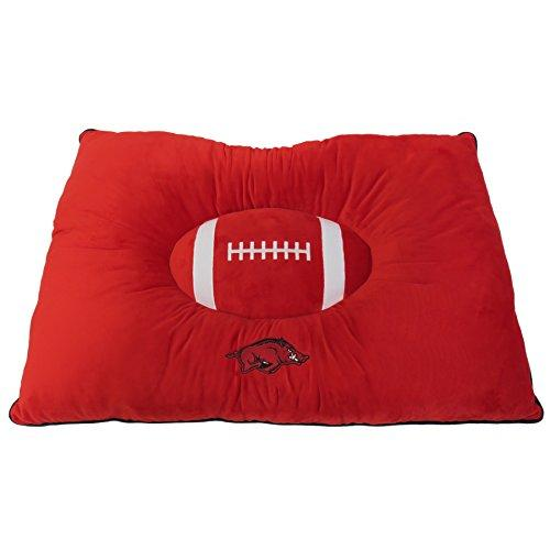 Pets First Collegiate Pet Accessories, Dog Bed, Arkansas Razorbacks, 30 X 20 X 4 Inches