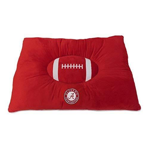 Pets First Collegiate Pet Accessories, Dog Bed, Alabama Crimson Tide, 30 X 20 X 4 Inches