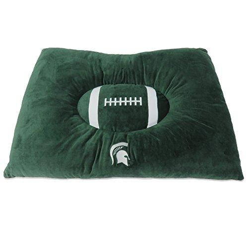 Pets First Collegiate Pet Accessories, Dog Bed, Michigan State Spartans, 30 X 20 X 4 Inches