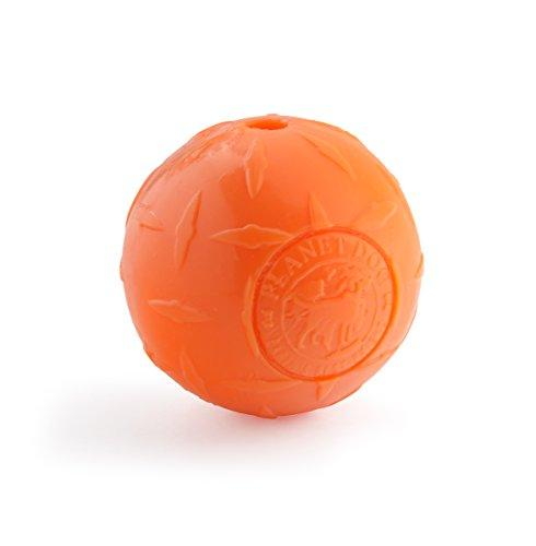 Planet Dog Orbee Tuff Diamond Plate Dog Ball, Nearly Indestructible Dog Chew Toy, Made in The USA, 4-inch, Orange
