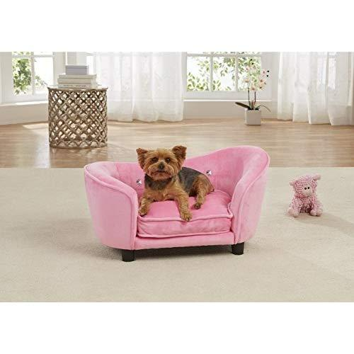 Enchanted Home Pet Ultra Plush Snuggle Bed In Light Pink