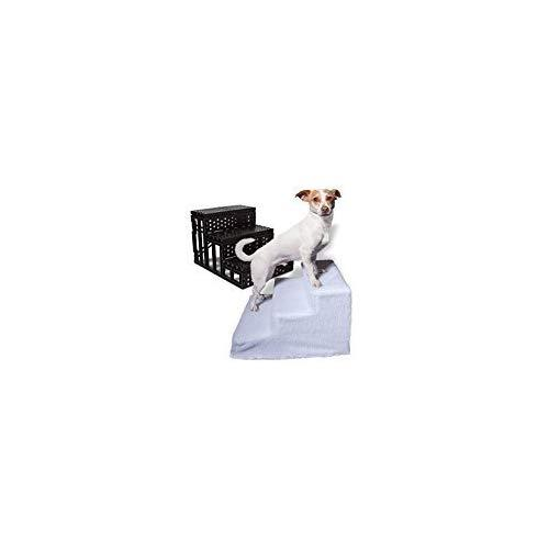 Unbrand Dog Pet Stairs Steps Indoor Ramp Portable Folding Animal Cat Ladder With Cover (White)