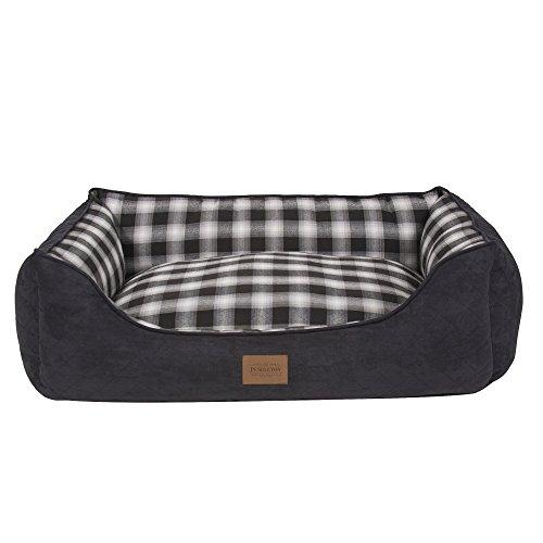 Carolina Pet Pendleton Kuddlers Charcoal Ombre Dog Bed Medium