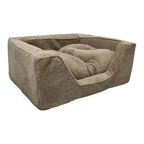 Snoozer Pet Products - Luxury Square Dog Bed With Microsuede Show Dog Collection   Medium - Piston Sand