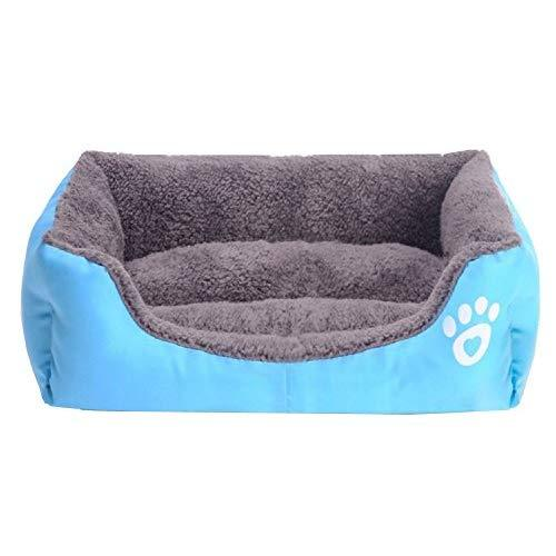 S-Lifeeling Lovely Spring Warm Dog Cave Bed Cat Bed Candy Color Square Pet Cat Bed Mattress Comfort Soft Pet Cushion