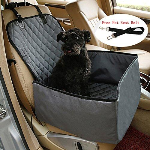 Dog Car Seat Cover For Small & Medium Dogs Flr 1 Pcs 2-In-1 Front Waterproof Washable Pet Dog Mat Booster Seat Cover Car Pet Dog Protector Cover With 1 Pcs Black Pet Seat Belt For Dogs Suv Cars Trucks