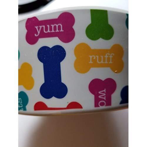 Melamine Yum Dog Food Bowl - Dishwasher Safe Pet Dish For Food Or Water