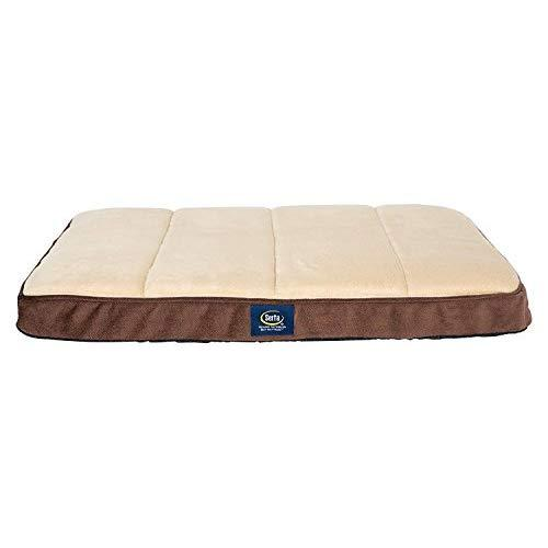 Serta Ortho Quilted Memory Foam Crate Mat Cover, Medium, Brown - Replacement Cover Only