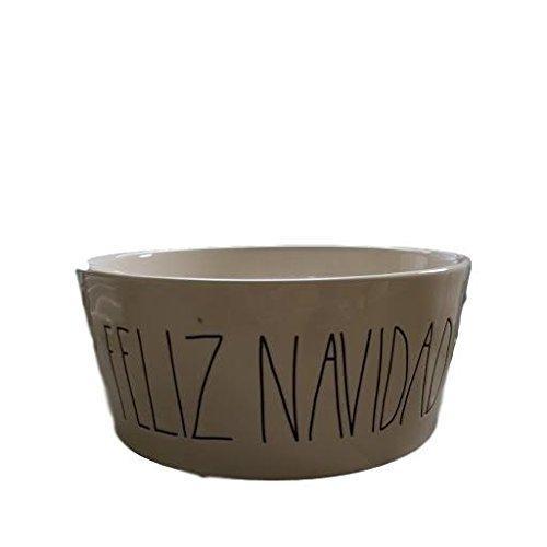 Rae Dunn Feliz Navidad Large Christmas Dog Food Bowl By Magenta