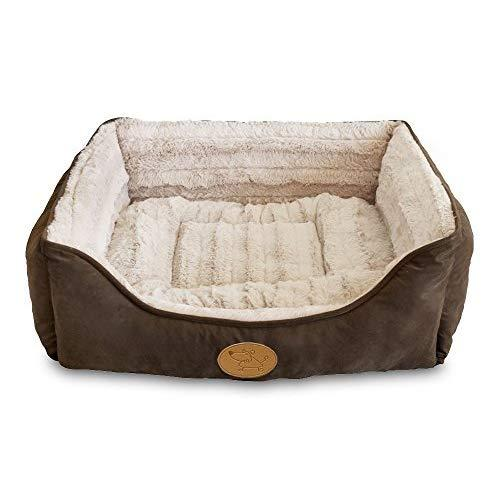Best Pet Supplies - Plush Bed For Cats And Dogs, Brown Suede, X-Large