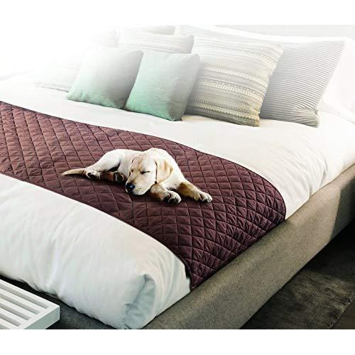 Pet Parade Bed Coverlet Pet Shield Scarf, Red, Gray